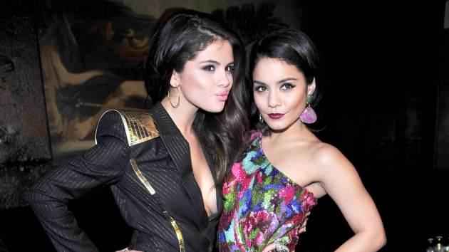 Selena Gomez and Vanessa Hudgens attend the premiere of 'Spring Breakers' at Sony Center on February 19, 2013 in Berlin -- Getty Premium