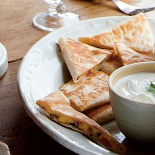 Pickled Squash Quesadilla