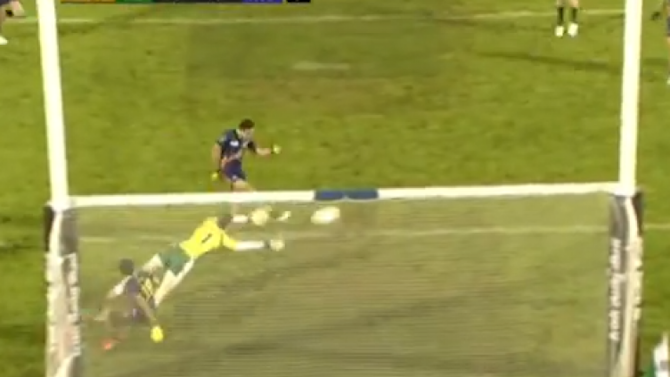 Check out this GIF of Australia's open goal miss last night