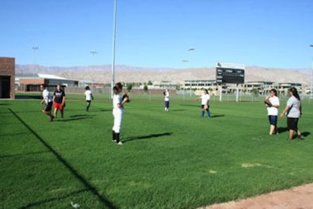 The Shadow Hills softball team, which was eliminated from the state playoffs for taking batting practice — Facebook