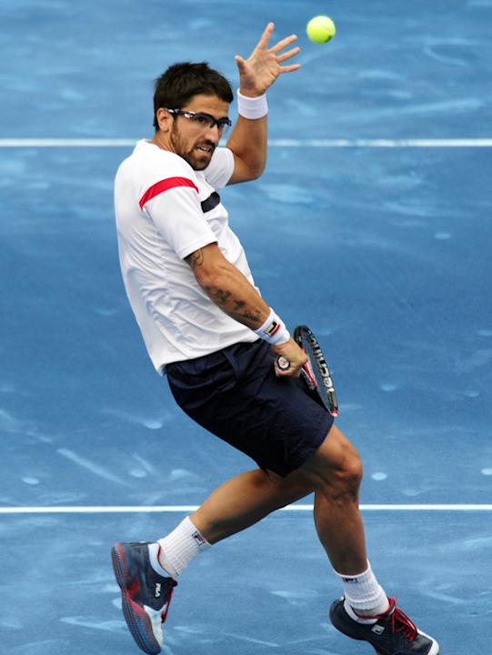 Serbian Janko Tipsarevic Returns AFP/Getty Images