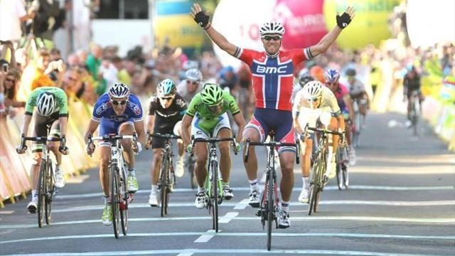 Cycling - Hushovd wins another stage in Poland, Izaguirre Insausti in yellow