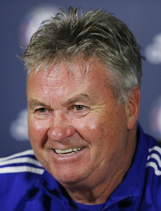 Chelsea manager Guus Hiddink during the press conference