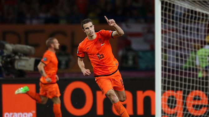 When linked with Robin van Persie (pictured), Roberto Mancini said it is unlikely the Arsenal star will join Manchester City