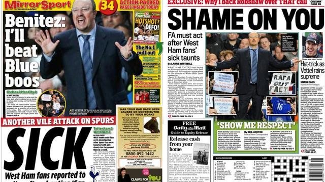 Premier League - Paper Round: Fans shamed by outpouring of hate