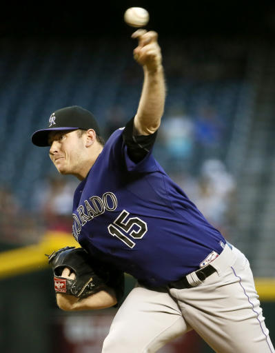 Colorado's Matzek leaves after first pitch of sixth inning