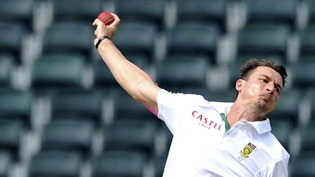 South Africa's Dale Steyn makes a delivery during the third day of their cricket test match against India in Johannesburg, December 20, 2013 (Reuters)