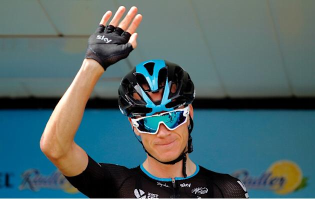 Sky's British cyclist Christopher Froome, pictured on August 31, 2015, was dropped in the mountains and his hopes of winning a second Grand Tour this year look to be dead in the water