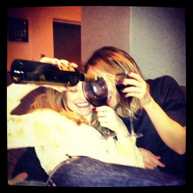 Celebrity Twitpics: Girls Aloud stars Kimberley Walsh and Nicola Roberts tweeted this cute photo of themselves on New Year's Eve. Copyright [Nicola Roberts]