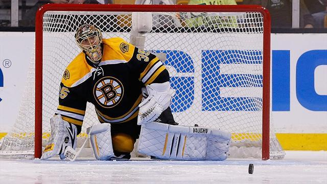 Ice Hockey - Sport resumes in Boston as Bruins fall to Sabres