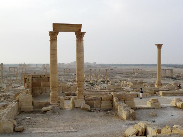 A view shows the historical city of Palmyra