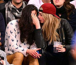 Michelle Rodriguez, Cara Delevingne Cuddle at Knicks Game: See Pictures of Their Bizarre Behavior!