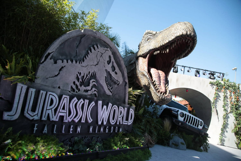 <p>在《侏羅紀世界:殞落國度》洛杉磯首映會上,自然少不了全片當仁不讓的第一主角:恐龍。 </p>
