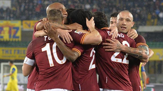 Serie A - Roma breeze past Chievo to stay second