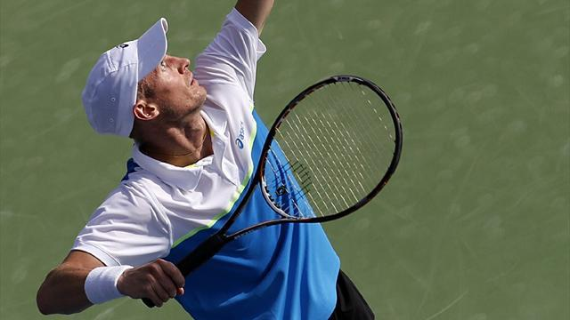 Tennis - Davydenko sets up Del Potro clash