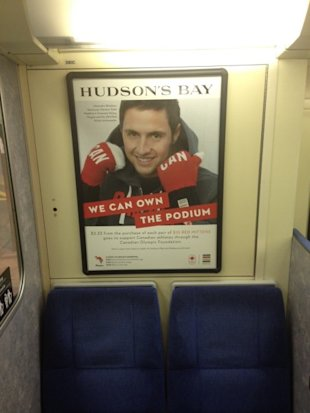 How One Major Retailer Is Using Marketing Orchestration To Reach Consumers image Hudsons Bay GO Train 450x600