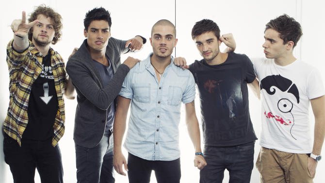 "This Aug. 22, 2012 photo shows members of the British boy band ""The Wanted"", from left, Jay McGuiness, Siva Kaneswaran, Max George, Tom Parkerand Nathan Sykes posing for a portrait at JetBlue's T5 at JFK International Airport in New York. The Wanted, who had a hit this year with the party jam ""Glad You Came,"" are up against fellow brish band One Direction, Canadian sensation Carly Rae Jepsen, R&B singer Frank Ocean and pop-rockers fun. for best new artist at the MTV Video Music Awards on Sept. 6.  (Photo by Victoria Will/Invision/AP)"