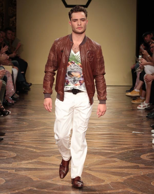Ed Westwick Makes His Steamy Modeling Debut On The Runway In Milan