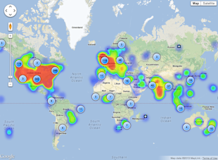 Understand and Monitor your Google+ Followers with CircleCount image CircleCount Map