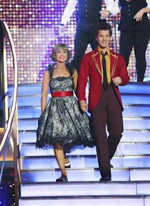 Dorothy Hamill and Tristan MacManus perform during Week 2 of 'Dancing with the Stars,' Season 16, March 25, 2013 -- ABC