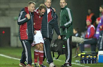 Eriksen injured on Denmark duty