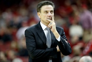 Louisville's Rick Pitino looks on during a game on Jan. 20. (Getty)