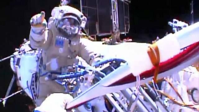 Olympic Torch Handed Over In Space