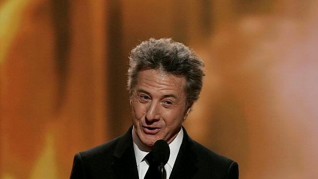 Dustin Hoffman at the 64th annual Golden Globe Awards.