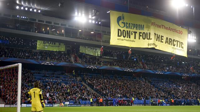 Champions League - Environmental protesters halt Champions League match