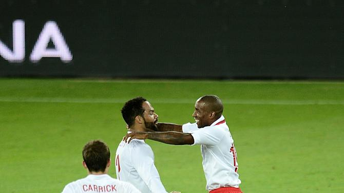 Jermain Defoe, right, curled home a second-half winner against Italy