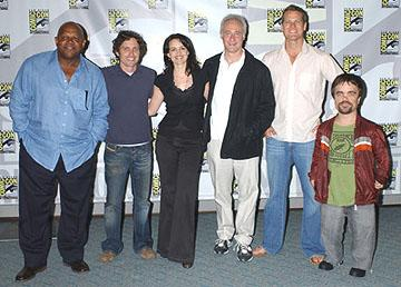 Charles S. Dutton, Robert Patrick Benedict, Carla Gugino, Brent Spiner, Brian Van Holt and Peter Dinklage San Diego Comic-Con, 7/17/2005