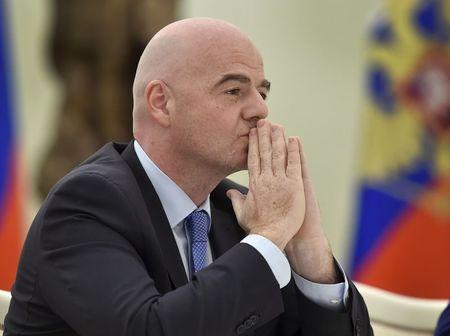FIFA President Infantino attends meeting with Russian President Putin in Moscow