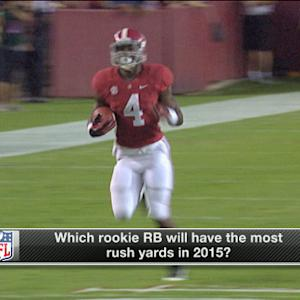 Which rookie running back will have the most yards in 2015?