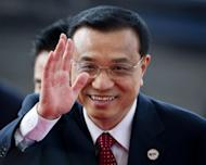China's Vice Premier Li Keqiang arrives for a ceremony on the southern Chinese island of Hainan on April 2. Russian strongman Vladimir Putin and outgoing President Dmitry Medvedev were set to host Li, who is tipped to become premier amid transitions of power in both countries
