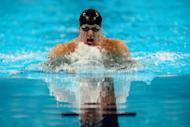 Brendan Hansen competes in the final heat of the men's 100m breaststroke at the US Olympic swimming trials on June 26. Hansen gave himself one more shot at an elusive individual Olympic gold medal as he won the men's 100m breaststroke at the US Olympic swimming trials