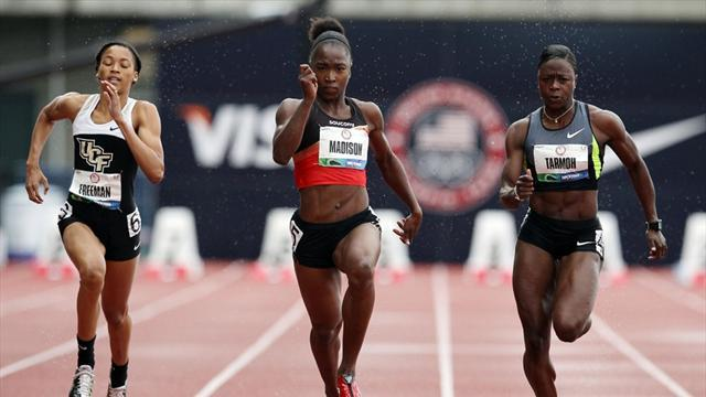Athletics - Madison leads qualifying at US trials