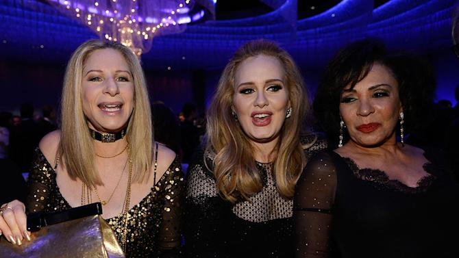 85th Annual Academy Awards - Governors Ball: Barbra Streisand, Adele, Shirley Bassey
