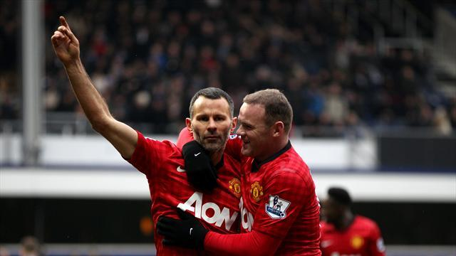 Football - Giggs reaches milestone, Rooney on bench