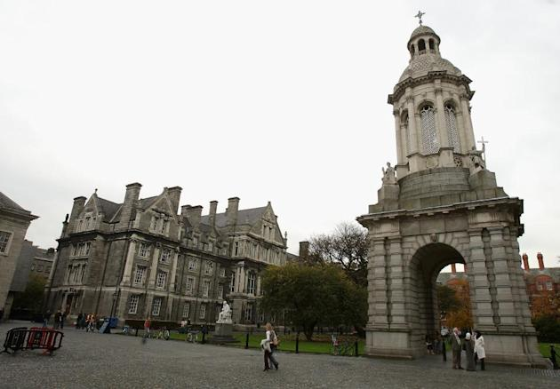 A view of Trinity College in Dublin, Ireland.