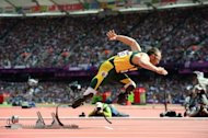 South African Oscar Pistorius, pictured at the Olympic Games on August 4, 2012, beat Arab horse Maserati in the 'run like the wind' race on Wednesday