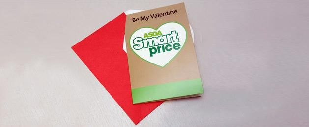 What a 7p ASDA Smartprice Valentine's Day card looks like (Image © Solent)
