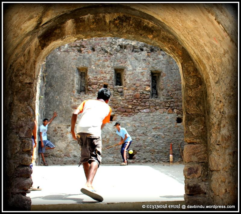 Cricket inside Shiragaon Fort, by Devendra Churi.