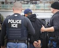 In this Tuesday, Feb. 7, 2017, photo released by U.S. Immigration and Customs Enforcement shows foreign nationals being arrested this week during a targeted enforcement operation conducted by U.S. Immigration and Customs Enforcement (ICE) aimed at immigration fugitives, re-entrants and at-large criminal aliens in Los Angeles. Immigrant advocates on Friday, Feb. 10, 2017, decried a series of arrests that federal deportation agents said aimed to round up criminals in Southern California but they believe mark a shift in enforcement under the Trump administration. (Charles Reed/U.S. Immigration and Customs Enforcement via AP)