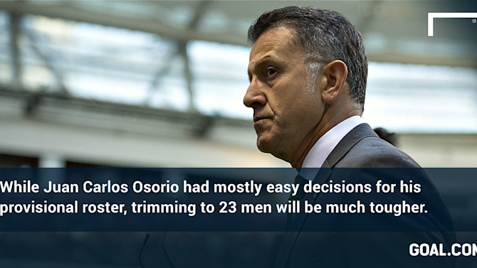 Mexico's Osorio has tough decisions to make after simple Copa America provisional calls
