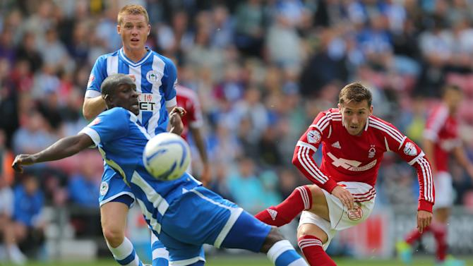 Soccer - Sky Bet Football League Championship - Wigan Athletic v Nottingham Forest - DW Stadium