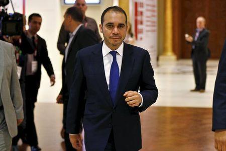 Jordan's Prince Ali Bin Al Hussein, FIFA presidential candidate, attends the Soccerex Asian Forum at the King Hussein Convention Center at the Dead Sea, Jordan
