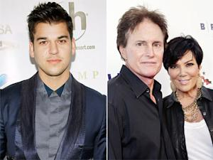 """Rob Kardashian Says Kris and Bruce Jenner Are """"Happier"""" After Split, """"No Bad Blood"""""""