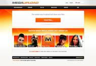 The home page of Megaupload.com, one of the largest file-sharing websites shut down by US authorities, is shown January 20, 2012. US authorities allege Dotcom's Megaupload and related file-sharing sites netted more than $175 million and cost copyright owners more than $500 million by offering pirated copies of movies, TV shows and other content