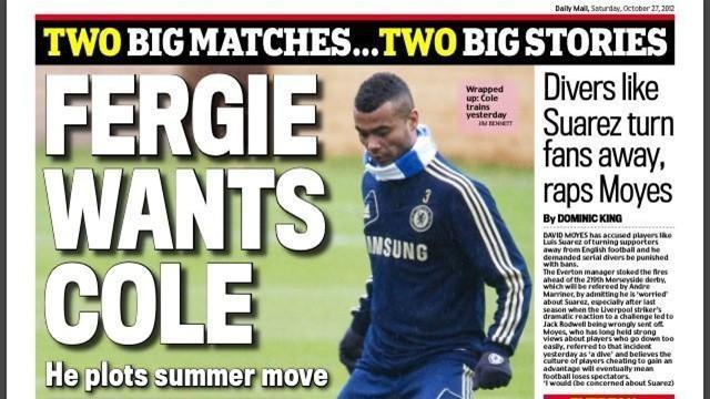 Premier League - Paper Round: United target Ashley Cole