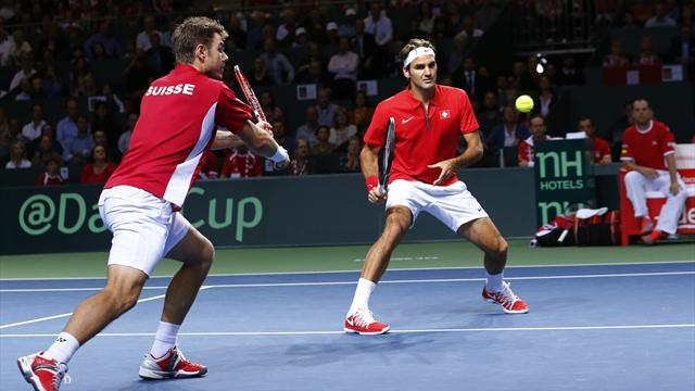 Davis Cup - Switzerland trail Kazakhs
